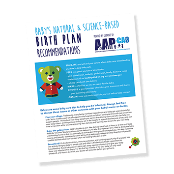 AAP-CA3's Natural Birth Plan - Handout