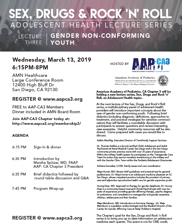 Gender Non-Conforming Youth: Adolescent Health Lecture