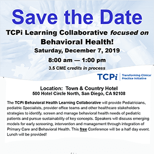 TCPi Learning Collaborative - Behavioral Health- December 7, 2019